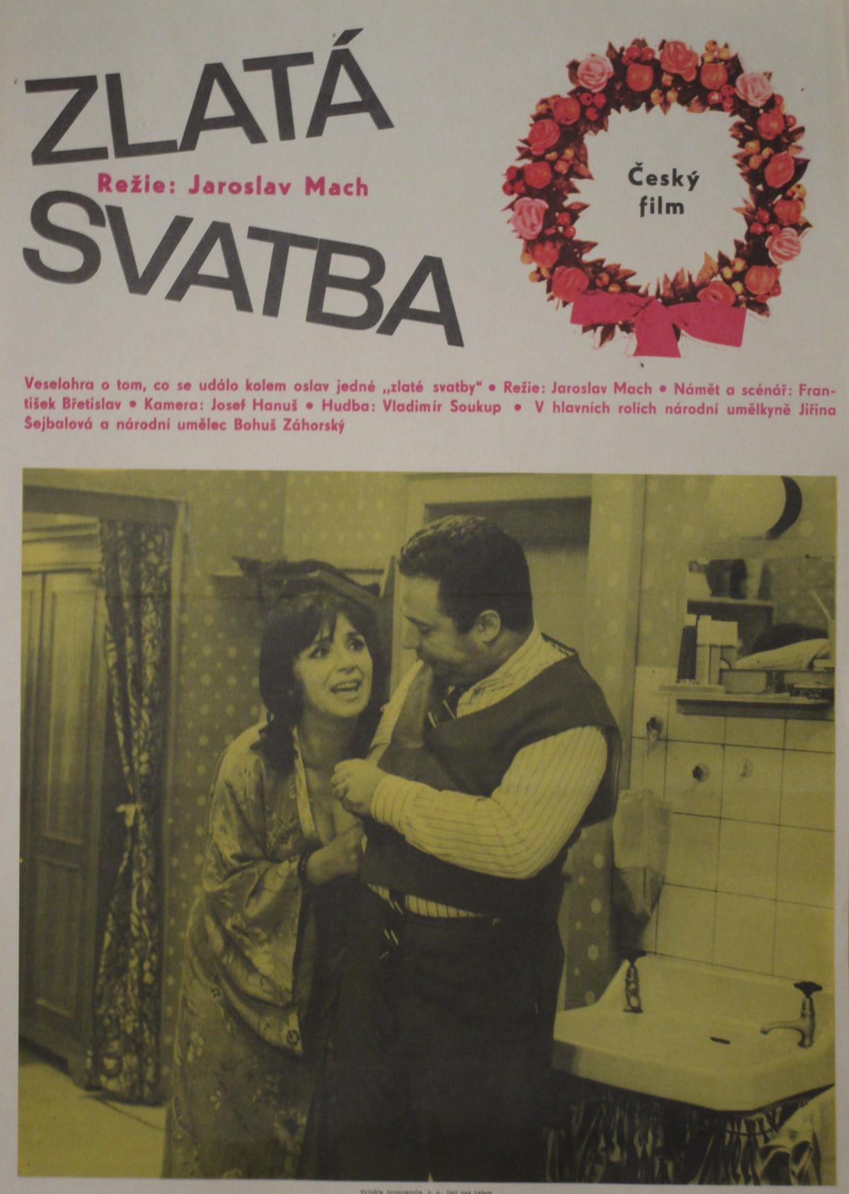 "Vladimír Menšík a ""vdova Putifarka"" (Miriam Kantorková) ve filmu Zlatá svatba"